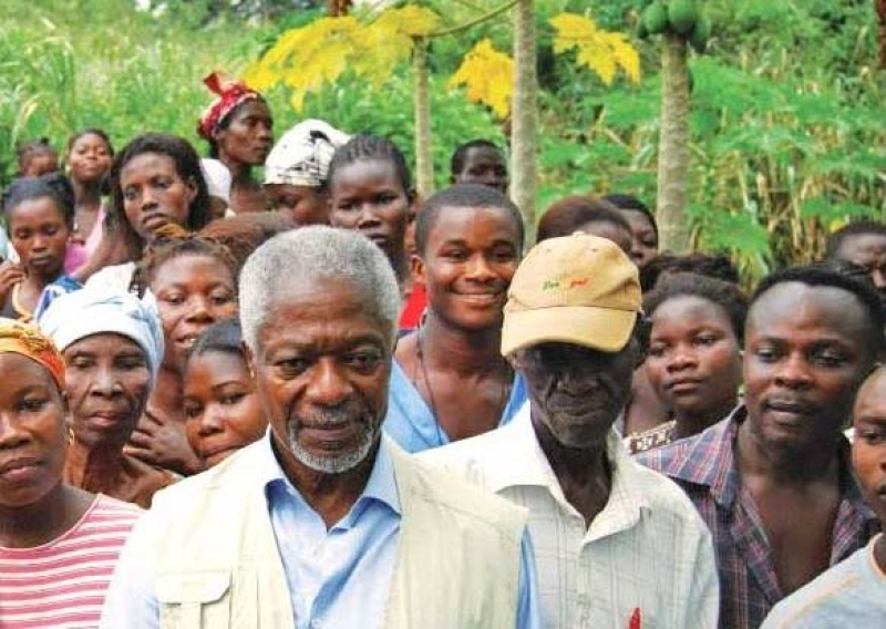 Kofi Annan, the champion of a green revolution in Africa dies at 80